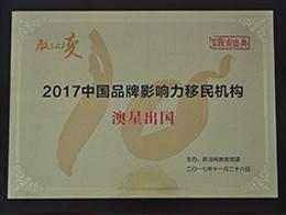 新浪2017中国品牌影响力移民机构