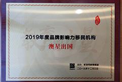 新浪網2019中國品牌知名度移民機構