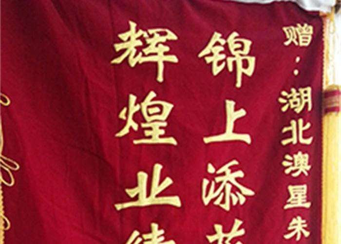 武汉澳星-客户赠予锦旗