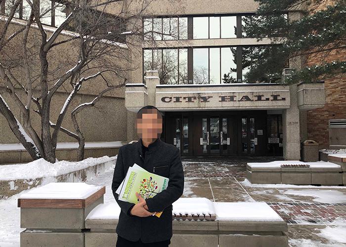 加拿大客戶拜訪市政府