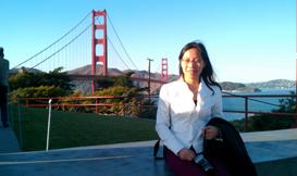 旧金山金门大桥留影